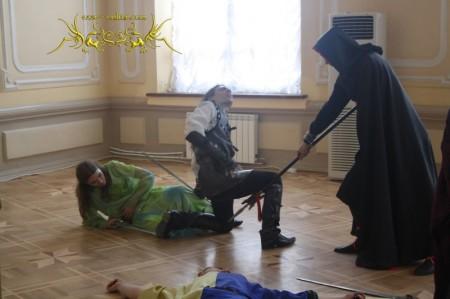 """Рок-опера """"Дорога без возврата"""". Сцена - """"Башня Чайки""""."""