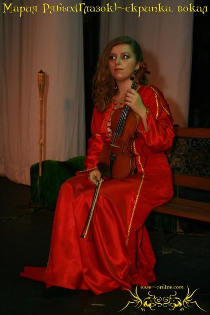 Мария Рябых. Музыкант — скрипка, вокал — Эсси Давен (Глазок)